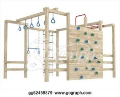 Jungle gym or climbing frame