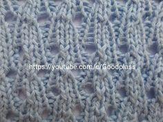 Красивый ажурный узор. Вязание спицами. Knitting(Hobby). - YouTube