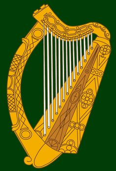 The Irish harp, vector traced and coloured to resemble the flag of Leinster Harp, Irish, Flag, Symbols, Color, Beautiful, Colour, Irish People, Icons