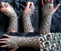 Tab-mail Gloves by jenjenplum.deviantart.com on @deviantART