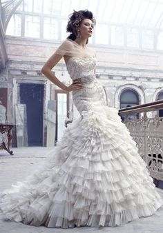 Again, love the beading and the full skirt. Not too flamenco is it?