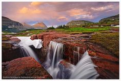 Triple Falls, Glacier NP, by Joseph Rossbach Glacier National Park Montana, Glacier Park, Places Around The World, Beautiful Landscapes, Places To See, Landscape Photography, The Good Place, Beautiful Places, National Parks