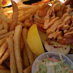 Lobster Po Boy @ Barking Crab - Newport, RI