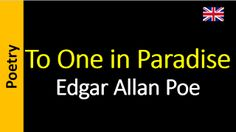 Poesia - Sanderlei Silveira: Edgar Allan Poe - To One in Paradise