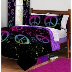 Peace Paint Bed in a Bag and Window Panels Bundle