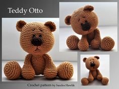 Crochet pattern, DIY – Teddy Otto – Ebook, PDF, German or English – Amigurumi Doll Baby Crochet Diy, Crochet Bear, Crochet Patterns Amigurumi, Baby Knitting Patterns, Crochet For Kids, Crochet Animals, Crochet Crafts, Crochet Dolls, Crochet Projects