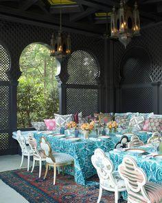 "Veranda Magazine on Instagram: ""One festive table. | Photo: @maxkimbee; Design: Kelli Ford #verandaoutdoors"""