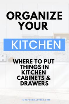 The best way to organize your kitchen cabinets and drawers. Learn where to put things in kitchen cabinets with this video guide and cheat sheet. Organize your kitchen by sorting your cabinets and drawers into zones. This video shows you the best place to put away things in your kitchen. #worktriangle #efficientkitchen, #kitchenzones #kitchenorganization #professionalorganizer Diy Kitchen Storage, Kitchen Cleaning, House Cleaning Tips, Kitchen Reno, Kitchen Hacks, Cleaning Hacks, Kitchen Ideas, Kitchen Design, Household Organization