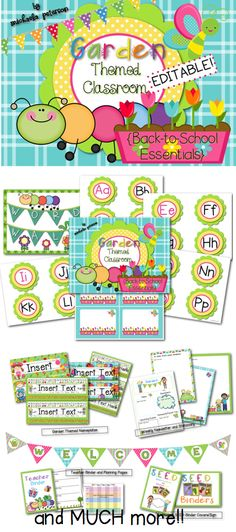 Garden/Bug Themed Classroom Decor & Back-to-School Essentials {Editable} - Garden Paradise Themed Classroom Decor {Editable}. This pack has everything to transform your cla - Garden Theme Classroom, Classroom Jobs, Classroom Setting, Classroom Design, Classroom Displays, Kindergarten Classroom, Future Classroom, Classroom Themes, Classroom Organization
