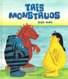 Libro infantil: Tres monstruos.
