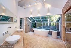 You can really be one with nature in this master bath  11 Green Heather Ct, Baltimore, MD