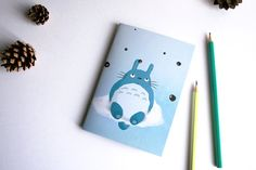 Totoro - carnet A6 illustré fait-main
