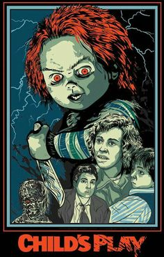NECA - Bride of Chucky - Scale Action Figure - Ultimate Chucky & Tiffany Horror Movie Posters, Movie Poster Art, Play Poster, Arte Horror, Horror Art, Horror Pics, Real Horror, Horror Movie Characters, Horror Movies