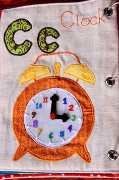 The Adventures of Six Hobbits: Alphabet Quiet Book: C is for Clock