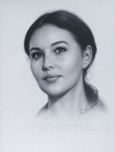 Portrait Monica Bellucci by Drawing-Portraits on deviantART