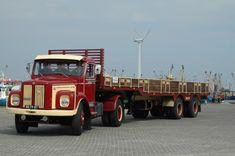 Scania Vabis BS-79-87 met Zwalve trailer 1972.