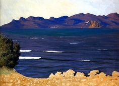 Felix Vallotton - L Estérel et la baie de Cannes Winterthur, Pierre Bonnard, Landscape Art, Landscape Paintings, European Paintings, French Paintings, Famous Artists, Belle Photo, Van Gogh