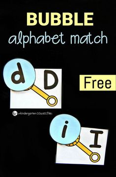 Bubble Alphabet Match for summer learning! (free printable)