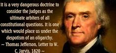 Thomas Jefferson Agrees with County Clerk Defying the Supreme Court on Gay Marriage!
