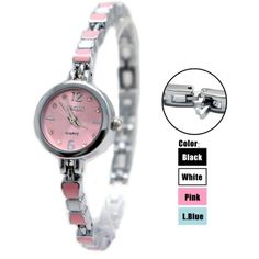 FW915D New Shiny Silver Band PNP Shiny Silver Watchcase Pink Dial Bracelet Watch
