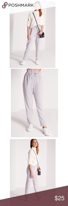 Missguided lilac drawstring trouser Lilac trousers with drawstring waist, brand new with tags. Fits true to size ! Missguided Pants Trousers