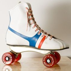 Skates without stoppers.what were they thinking? I am pretty sure I had these exact skates and the stitches scar to prove it. Roller Derby Skates, Roller Rink, Roller Skating, Skating Rink, My Childhood Memories, Childhood Toys, My Youth, Retro Toys, My Memory
