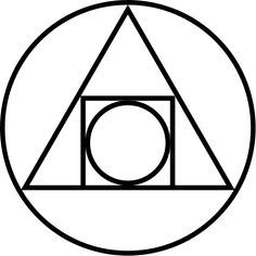 The 'squared circle' or 'squaring the circle' is a century alchemical glyph or symbol for the creation of the Philosopher's Stone. The Philosopher's Stone was supposed to be able to transmute base metals into gold and perhaps be an elixir of life. Magnum Opus, Larp, Kreis Tattoo, Yi King, Squaring The Circle, Stone Tattoo, Element Symbols, Philosophers Stone, Symbols And Meanings