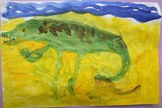 Крокодил.  Рисунок. Гуашь.