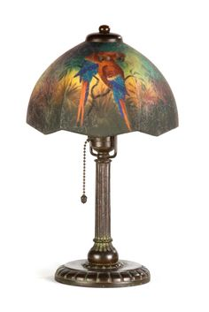 Buy online, view images and see past prices for Handel Boudoir Parrot Lamp. Invaluable is the world's largest marketplace for art, antiques, and collectibles. Abajur Art Nouveau, Painting Lamps, Tiffany Lamps, Antique Lighting, Parrot, Boudoir, Porcelain Lamps, Auction, Art Deco