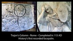 First recorded facepalm.