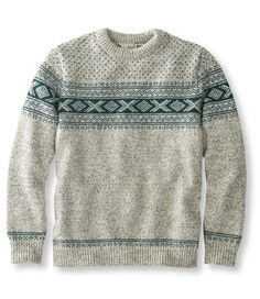 Inspired by the traditional sweaters of Norway - worn as a defense against the bone-chilling conditions at sea - this sweater is made of premium wool that will… Best Mens Sweaters, Boys Sweaters, Men Sweater, Sweater Outfits, All Fashion, Mens Fashion, Knitting Videos, Mens Sweatshirts, Crewneck Sweaters