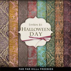 Freebies Backgrounds Kit - Halloween Day