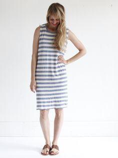 Calder Chloe Nico Stripe Dress - Chambray