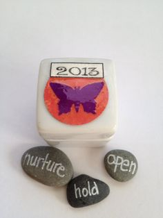 2013 Word of the Year Rock in A Box by QueenofArtsStudio on Etsy, $7.00