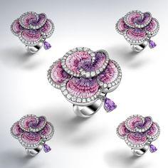 Puprle Rose Carpet#sicis #sicisjewels #jewelry #jewelrygram #jewelrydesign #jewelrydesign #jewelrymaking #jewelryoftheday #jewels #luxury #luxurylifestyle #jewelrymaking #micromosaic #diamonds #fashion #diamondjewelry  #ring