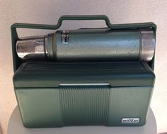 Vintage lunchbox thermos Stanley Aladdin army green cooler