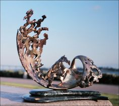 Surge Bronze sculpture by Ronald Jermyn   Limited Edition