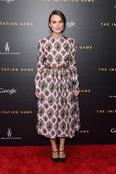 Keira Knightley attends the 'The Imitation Game' New York Premiere at Ziegfeld Theater on November 17, 2014 in New York City.