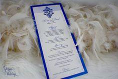 Damask Wedding Menus by SDezigns on Etsy