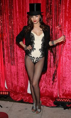 Celeb Halloween costume inspiration: Miranda Kerr as a stylin' circus ringleader