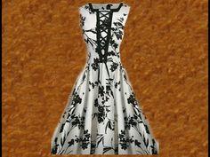 Aula #34: Modelando vestido godê com um detalhe incrível no busto   Faby CorteCostura - YouTube