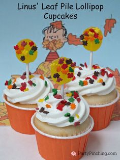 Great Pumpkin Charlie Brown Halloween party ideas with Snoopy and the Peanuts Gang, Snoopy cupcakes, great pumpkin desserts snack fun kid Halloween tv ideas Charlie Brown Halloween, Charlie Brown Thanksgiving, Great Pumpkin Charlie Brown, Peanuts Halloween, It's The Great Pumpkin, Holidays Halloween, Halloween Treats, Halloween Pumpkins, Halloween Party