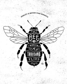 A bee is worth a thousand flies! Call Bee Specialists in Bloomfield Hills, MI today at to schedule an appointment if you& got a stinging insect problem . Typography Letters, Typography Design, Inspiration Typographie, Logos Vintage, Image Deco, Save The Bees, Bee Happy, Bees Knees, Grafik Design
