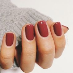 love this raspberry brownish nail color,