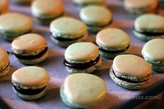Dark Mint Chocolate French Macarons Recipe — Ms. Adventures in Italy