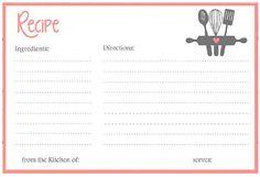 recipe cards recipe books stationary