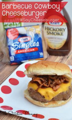 Barbecue Cowboy Cheeseburger #SayCheeseburger #shop #cbias www.thestitchinmommy.com