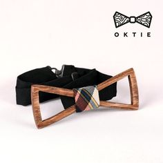 OKTIE Classic Wooden Bow Tie Handmade Bowtie Wood Accessories Gift for Men Ash curved bow tie Brown