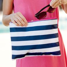 Tote-ally Practical - Prep Stripe Wet or Dry Zip Pouch | Driftwood Market