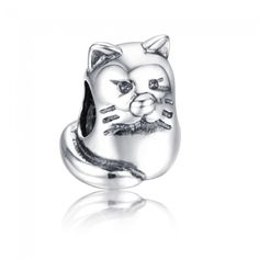 Cat Charm 925 Sterling Silver Pandora Compatible